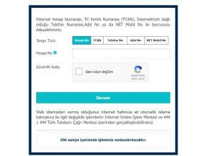 Türk Telekom Borç Sorgulama Ekranı 2020